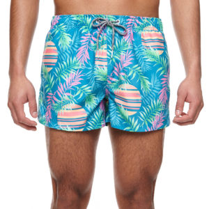 BOARDIES SWIM SHORTS FOR MEN RISING PALM SHORTIE-MULTICOLOR