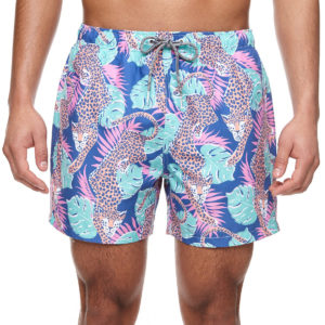 BOARDIES SWIM SHORTS FOR MEN PURFECT PARADISE BLUE-MULTICOLOR