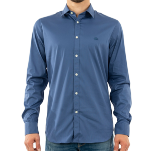 LACOSTE SLIM FIT SHIRT CH5366-YWH-BLUE