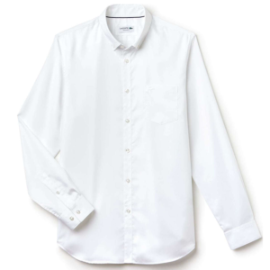 LACOSTE COTTON MINI PIQUET SHIRT CH9623-800-WHITE