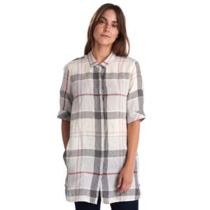 BARBOUR HARPER SHIRT  3BRLSH1289-GY12-PLATINUM TARTAN