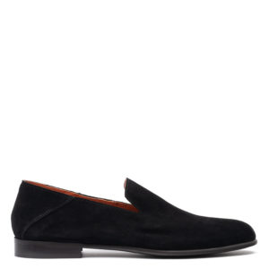 PERLAMODA MEN'S SHOES M760-VELOUR RESINATO NERO