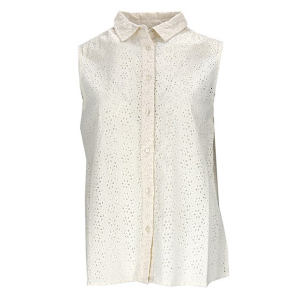SUPERDRY TILLY BRODERIE SHIRT W4010012A-FU4-CHALK WHITE