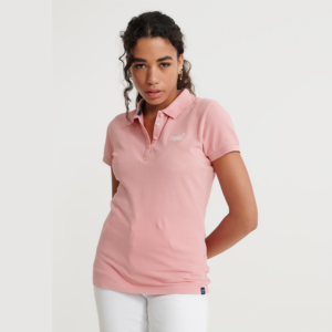 SUPERDRY POLO SHIRT W6010017A-10R-SOFT PINK