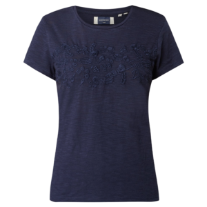SUPERDRY TINSLEY EMBROIDERY TEE T-SHIRT W6010154A-GKV-ATLANTIC NAVY