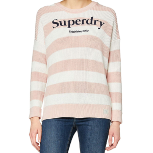 SUPERDRY WHITTAKER LOGO KNIT W6110021A-6SV-PEACH WHIP