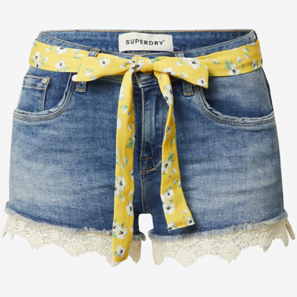 SUPERDRY LACE HOT SHORT W7110012A-T5T-SUMMER HOUSE BLUE