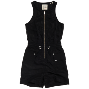 SUPERDRY NEVADA HALTER PLAYSUIT W8010102A-02A-BLACK