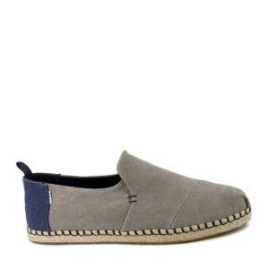 TOM'S DECONSTRUCTED ALPARGATA ROPE 10013214-DRIZZLE GREY WASHED