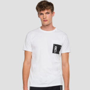 REPLAY T-SHIRT WITH REPLAY PRINT AND WRITING M3009.000.2660-001-WHITE