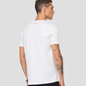 REPLAY JERSEY T-SHIRT WITH WRITING M3066.000.22662-001-WHITE
