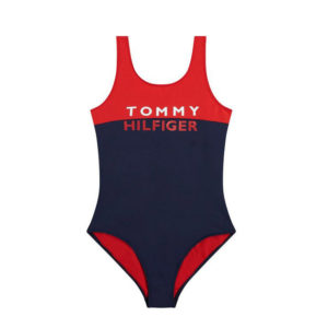 TOMMY HILFIGER ONE-PIECE SWIMSUIT FOR GIRLS UG0UG00333 XL7-RED GLARE