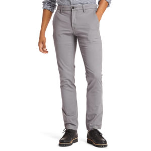 TIMBERLAND SARGENT LAKE STRETCH TWILL SLIM CHINO PANTS TB0A1NWV-033-MEDIUM GREY NUBUCK