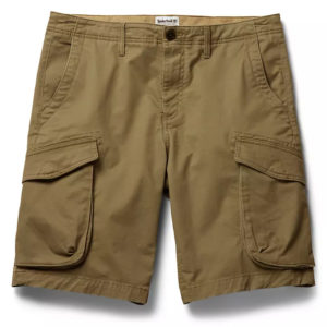 TIMBERLAND TARLETON LAKE STRETCH TWILL RELAXED CARGO SHORT TB0A297T-A58-KHAKI
