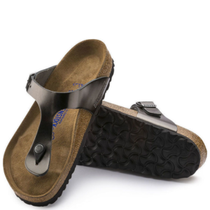 BIRKENSTOCK GIZEH BS 1003676-METALLIC ANTHRACITE