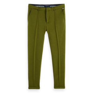 SCOTCH AND SODA MOTT – CHIC JERSEY PANTS WITH PINTUCK 156654-0154-MILITARY GREEN