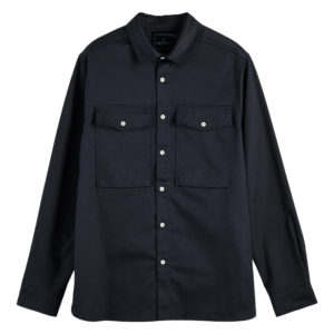 SCOTCH AND SODA LONGSLEEVE CLEAN UTILITY SHIRT 156867-0002-NIGHT