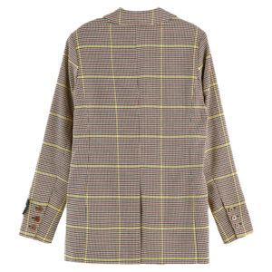SCOTCH AND SODA DOUBLE BREASTED LONGER LENGTH BLAZER IN SPECIAL CHECK 156909-0217-COMBO A