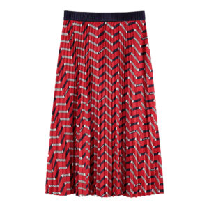 SCOTCH AND SODA PLISSE SKIRT WITH ALLOVER PRINT 157009-0218-COMBO B