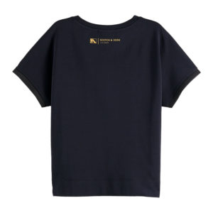 SCOTCH AND SODA CLUB NOMADE TEE WITH SHAPED WAIST 157064-0093-MIDNIGHT