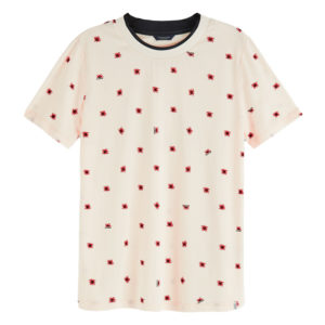 SCOTCH AND SODA ALLOVER PRINTED SHORT SLEEVE TEE 157077-0219-COMBO C