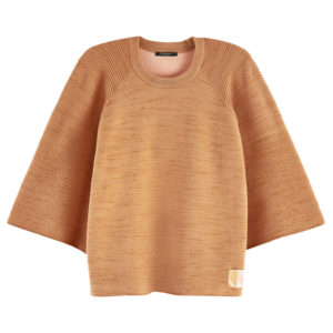 SCOTCH AND SODA CLUB NOMADE KNITTED PULL 157502-0760-CAMEL MELANGE