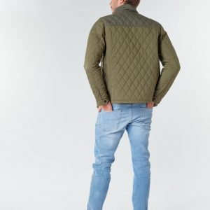 SCOTCH AND SODA CLASSIC SHORT QUILTED JACKET 158273-0360-MILITARY