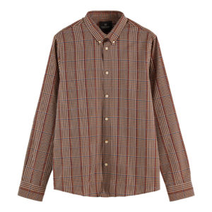 SCOTCH AND SODA PATTERN SHIRT WITH CONTRAST  BOUCLE YARN 158417-0217-COMBO A