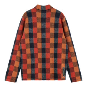 SCOTCH AND SODA JACQUARD CHECK CARDIGAN IN WORKER  JACKET STYLING 158625-0217-COMBO A