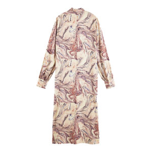 SCOTCH AND SODA MARBLE PRINTED HIGH NECK DRESS 158891-0587-COMBO H