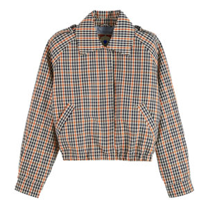 SCOTCH AND SODA SHORT JACKET IN CHECK 159132-0596-COMBO Q