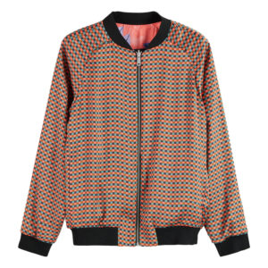 SCOTCH AND SODA PRINTED REVERSIBLE BOMBER JACKET 159191-0217-COMBO A