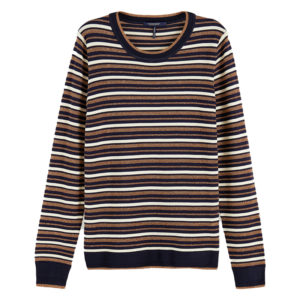 SCOTCH AND SODA BASIC STRIPED PULLOVER 159214-0598-COMBO S