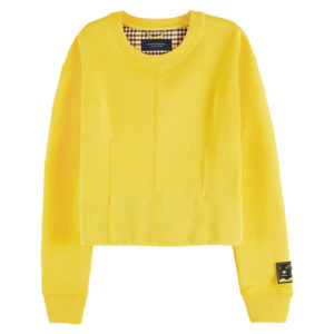 SCOTCH AND SODA SWEAT WITH SHAPED DARTS AND VOLUME IN THE SLEEVES 159426-3602-EXPLORER YELLOW