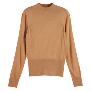 SCOTCH AND SODA LIGHTWEIGHT KNIT WITH FITTED WAIST 160403-0760-CAMEL MELANGE