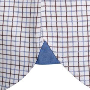 NAVY & GREEN SHIRT 24NG.M205/1B-WHITE/LT BROWN/LT BLUE