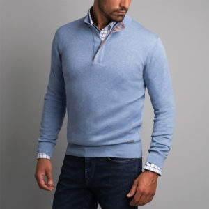 NAVY & GREEN SWEATER 24YM.907/2LB-LIGHT BLUE
