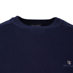 NAVY & GREEN SWEATER 24YM.908/P-SPACE BLUE