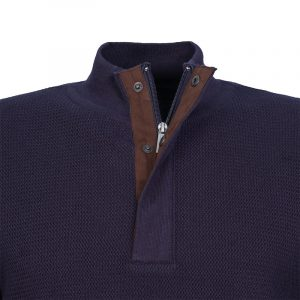 NAVY & GREEN SWEATER 24YM.915/LB-BLUE
