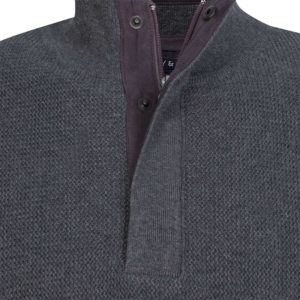 NAVY & GREEN SWEATER 24YM.915/LB-CARBON