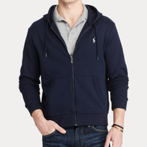 POLO RALPH LAUREN LONG SLEEVE HOODIE 710652313008-NAVY/AVIATOR NAVY