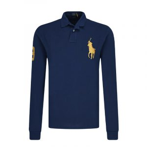 POLO RALPH LAUREN LONG SLEEVE POLO SHIRT 710766856001-NAVY/NEWPORT NAVY