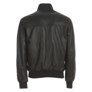 EMPORIO ARMANI CABAN LEATHER JACKET 91B52P 91P52 0999-NERO