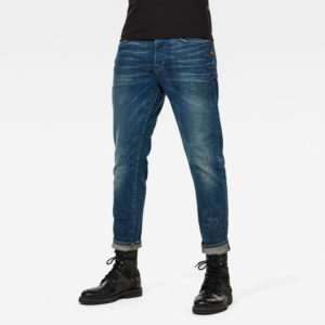 G-STAR RAW LOIC RELAXED TAPERED JEANS D16132-B631-B820-ANTIC FADED OREGON BLUE