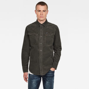 G-STAR RAW 3301 SLIM SHIRT LONG SLEEVE  D17524-C436-B575-ASFALT GARMENT DYED