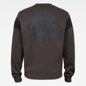 G-STAR RAW DREIN MOTO BADGE SW LONG SLEEVE SWEATER D17679-A971-976-RAVEN