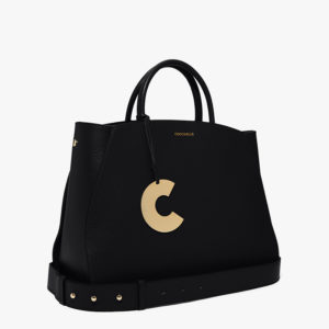 COCCINELLE CONCRETE MEDIUM HAND/SHOULDER BAG E1GLA-180101-001-BLACK