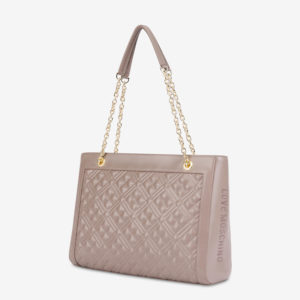 LOVE MOSCHINO SHOPPER BAG WITH LOGO JC4010PP1BLA0-001-TAUPE