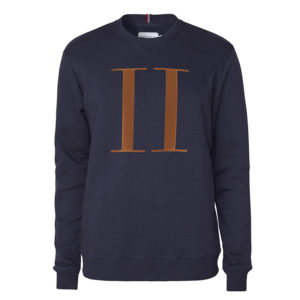 LES DEUX ENCORE SWEATSHIRT LDM200026-460805-DARK NAVY/RUSTY BROWN