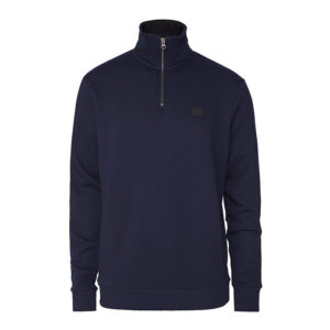 LES DEUX CLINTON HALF ZIP SWEATSHIRT LDM200060-460100-DARK NAVY/BLACK